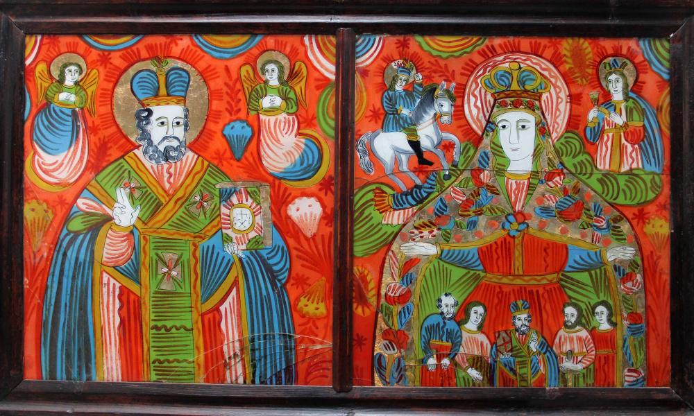 Св. Юрій, Миколай. святий Юрій, Богородиця-Покрова, свята Варвара