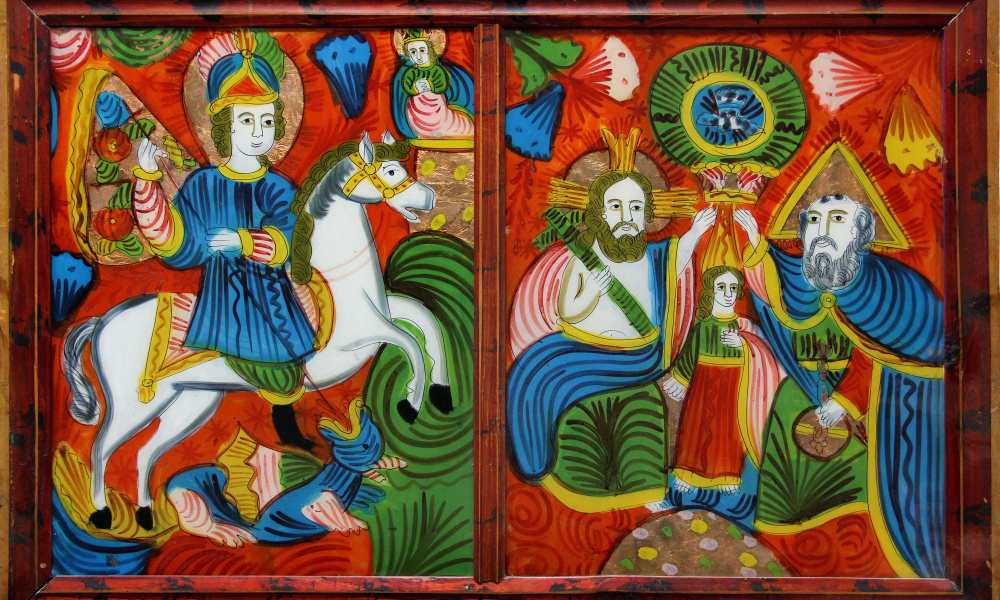 Св. Юрій,  Коронування Марії