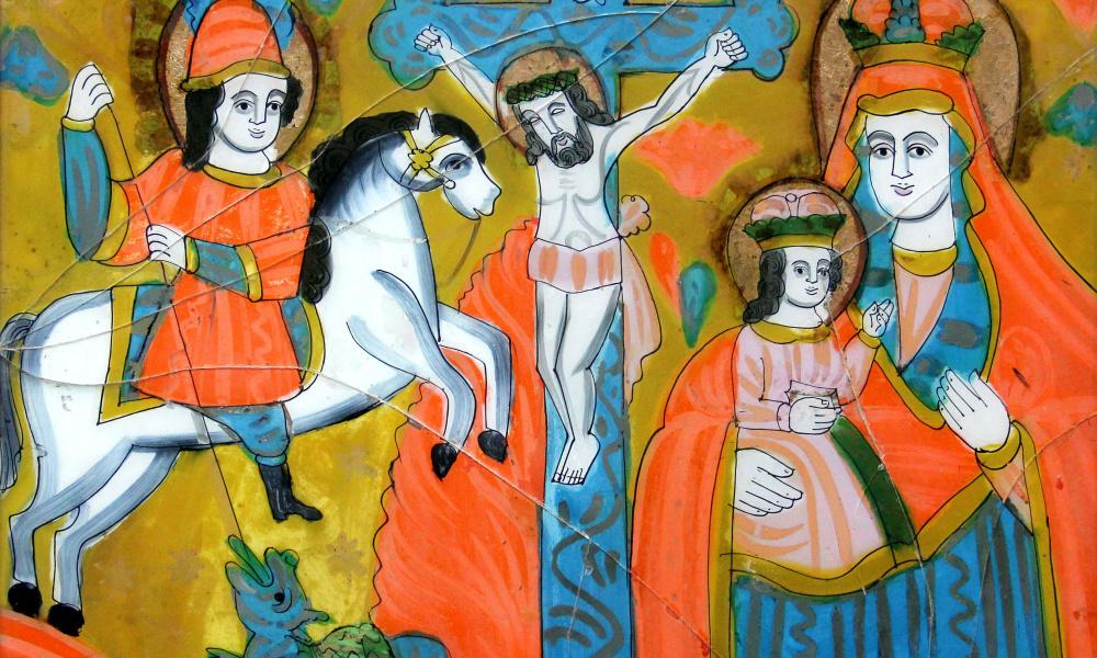 Св. Юрій, Розп`яття,  Богородиця-Одигітрія